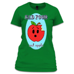 Sad Food - Sad Apple Girls' Basic Tee