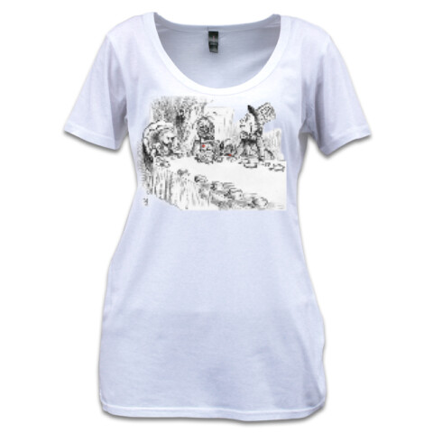 Alice's Deathly Tea Party - Shutter Tee - Squibble