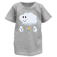Refracting Rainbow Raindrop Tee for Kids by Squibble Design