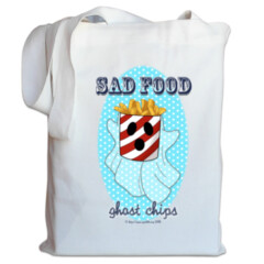 Sad Food - Ghost Chips Tote Bag by Squibble