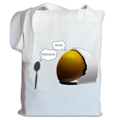 Spoon. Spacehead. Tote by Squibble Design
