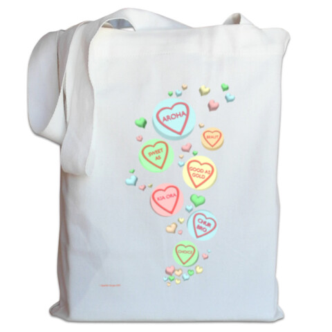 Kiwi Sweet Hearts Tote by Squibble Design - Squibble