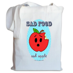Sad Food - Sad Apple Tote Bag