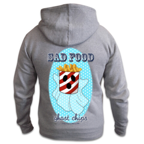 Sad Food - Ghost Chips Hoodie by Squibble - Squibble